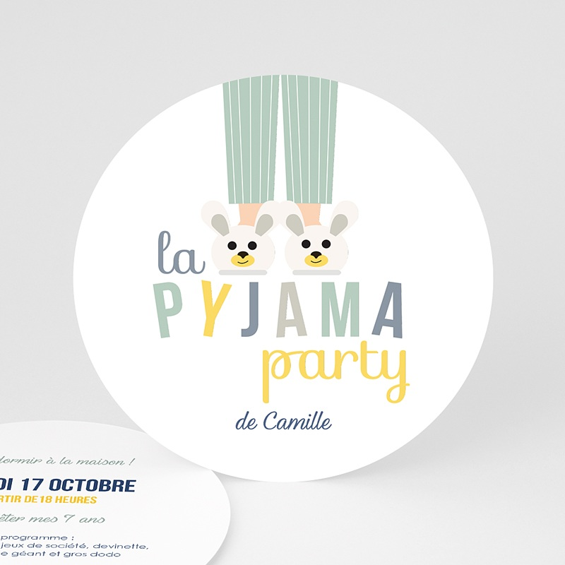 Invitations Anniversaire Garçon - Pyjama Party | Carteland.com