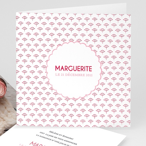 Faire-Part Naissance Fille - Fleur chic 44279