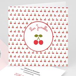 Faire-Part Naissance Jumeaux - Les Jumelles 44291