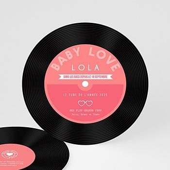 Faire-part Naissance Fille - CD Baby Love - 0