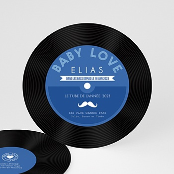 Faire-part Naissance Garçon - Single Baby Blue - 0