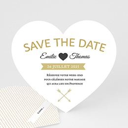 Save-The-Date - Marque Coeur 44346