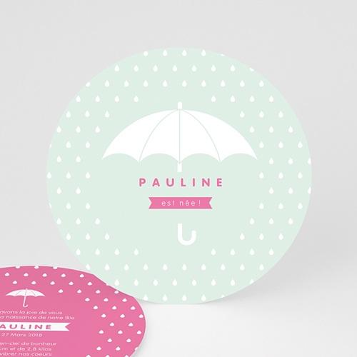 Faire-Part Naissance Fille - Pluie de bonheur 44368