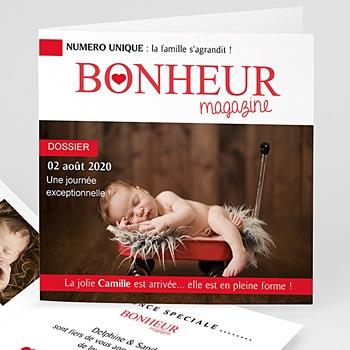 Faire-part Naissance Fille - Bonheur Magazine - 0