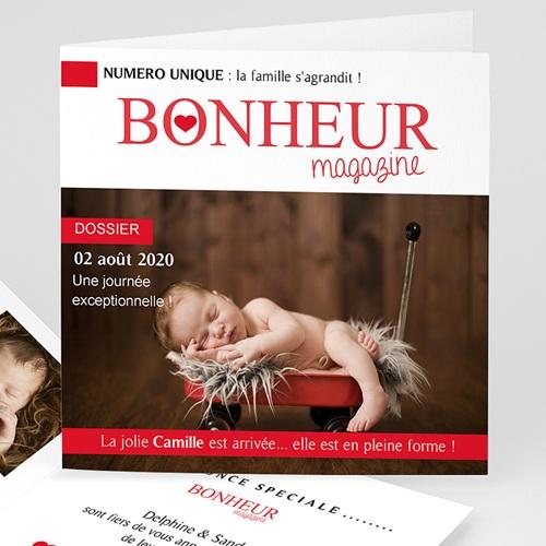 Faire-Part Naissance Fille - Bonheur Magazine 44379