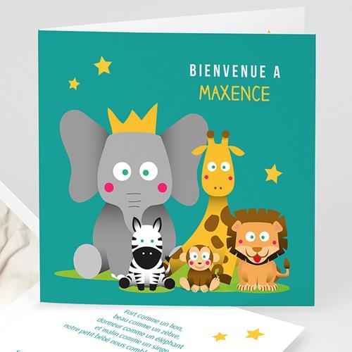 Faire-Part Naissance Garçon - Jungle en folie 44412