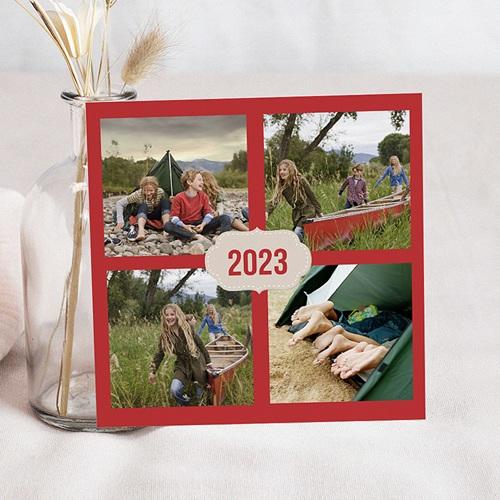 Carte de Voeux 2017 - Ardoise vert et rouge 44427