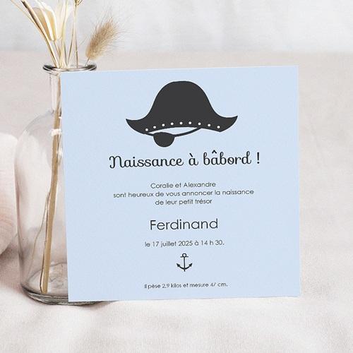 Faire-Part Naissance Garçon - Petit Pirate 44643