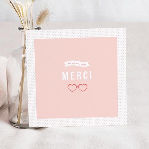 Remerciements Naissance Fille - La vie en rose 44652