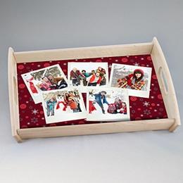 Plateaux personnalisés avec photos - Couleur de Noël - 0