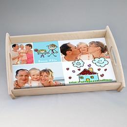 Plateaux personnalisés avec photos - Plateau Fête des Parents - 0