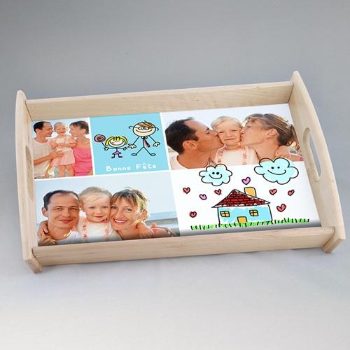 Plateaux personnalisés avec photos - Fête Parents 44801