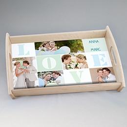 Plateaux personnalisés avec photos - Notre Mariage - 0
