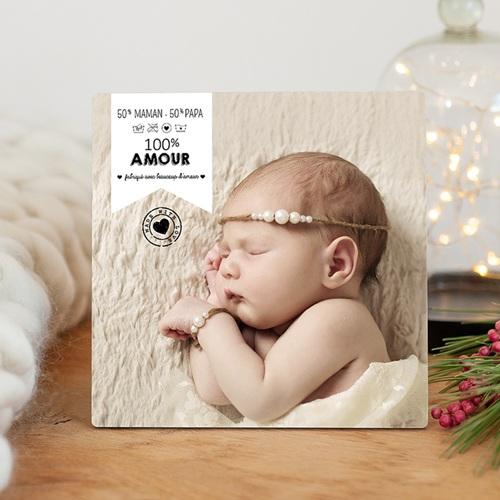 Cadre photo en bois - 100% Amour 45088
