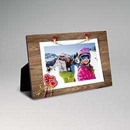 Cadre photo en bois - Noël esprit scandinave - 0