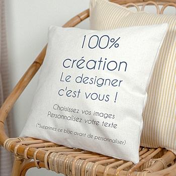 Coussin personnalisé - 100% Créatif - 0