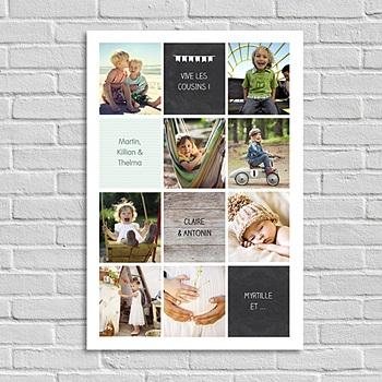 Poster personnalisé - Damier Photo Vertical - 0