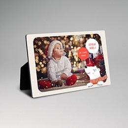Cadre photo en bois - Ours de Noel - 0