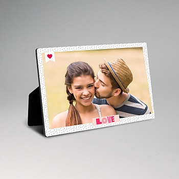 Cadre photo en bois - Fresque d'amour - 0