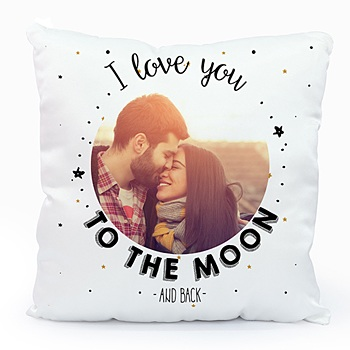 Coussin personnalisé - To the Moon & back - 0