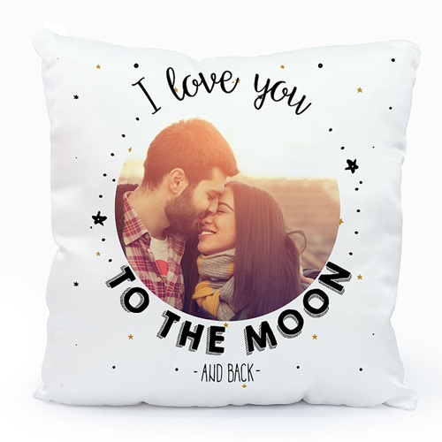 Coussin personnalisé - To the Moon & back 45571