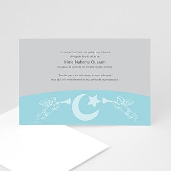 Remerciements Décès Musulman - Malak bleu - 3