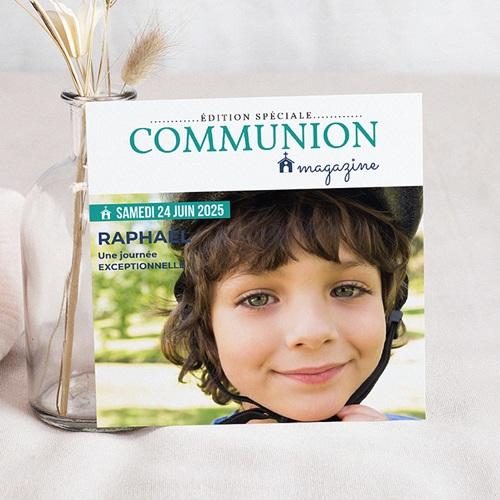 Faire-part Communion Garçon - Communion Magazine 45850
