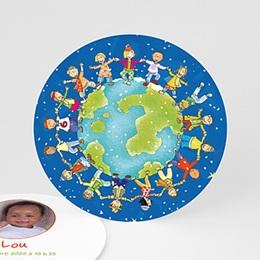 Faire-Part Naissance Fille UNICEF - Ronde enfantine - 0