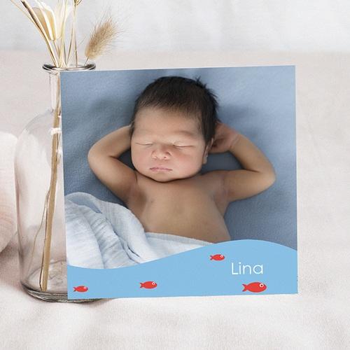 Faire-Part Naissance Fille UNICEF - Petit Navire 46079