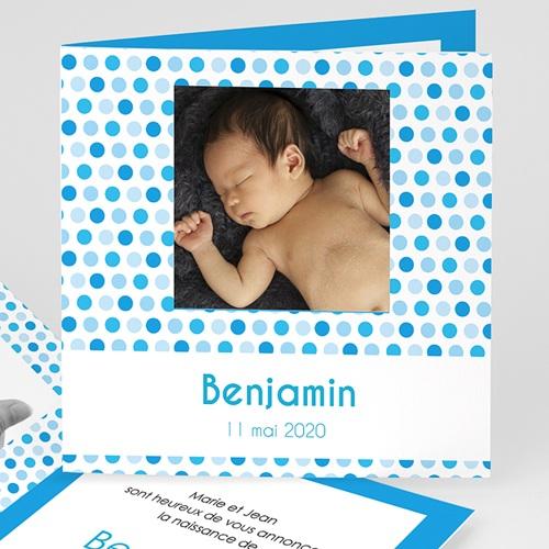 Faire-Part Naissance Garçon UNICEF - Gommettes Bleues 46720