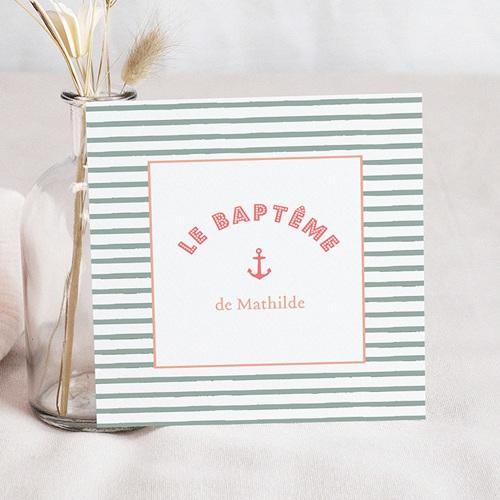Faire-part Baptême Fille - Belle Marinière 47063