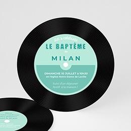 Faire-part Baptême Garçon - Baptême POP bleu - 0