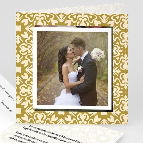 Faire-Part Mariage Personnalisés - Effet Parchemin 4722