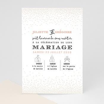 Faire-Part Mariage Personnalisés - Pailleté - 0