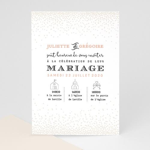 Faire-Part Mariage Personnalisés - Pailleté 47338