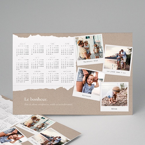 Calendrier Monopage - Photo de famille - A3 4754