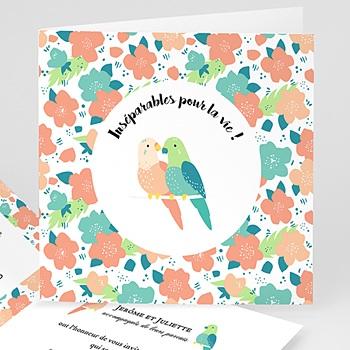 Faire-Part Mariage Personnalisés - Lovebirds - 0