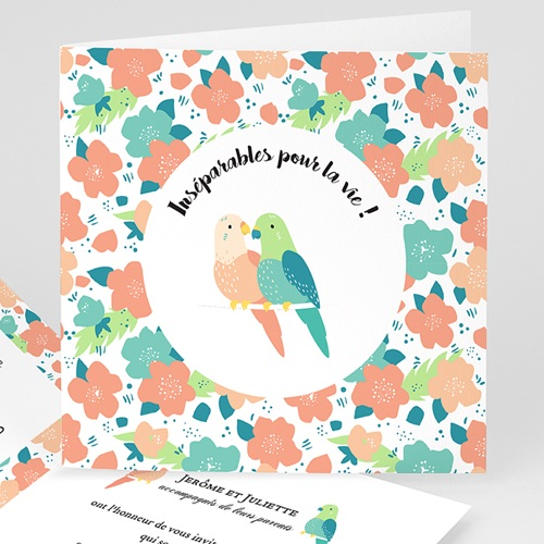 Faire-Part Mariage Personnalisés - Lovebirds 47869