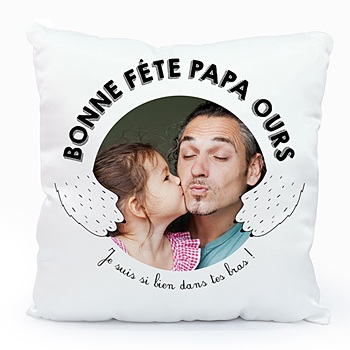 Coussin personnalisé - Daddy Ours - 0