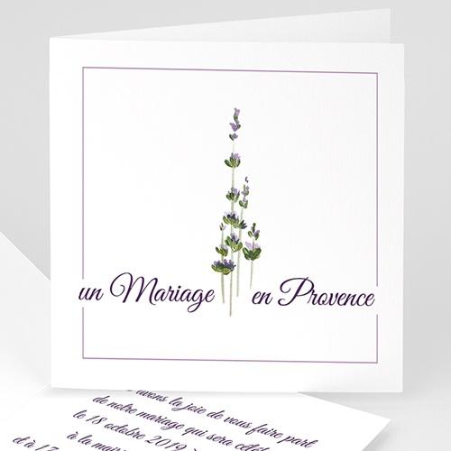 Faire-Part Mariage Personnalisés - Bouquet de lavande en Provence 4810