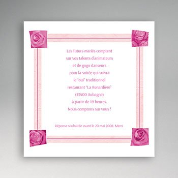 Cartons d'Invitation Personnalisés - Une journée si romantique - 3
