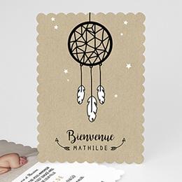 Faire-Part Naissance Fille - L'attrape-rêves Nature 48466