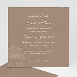 Faire-Part Mariage Personnalisés - Elégance chocolat 48665