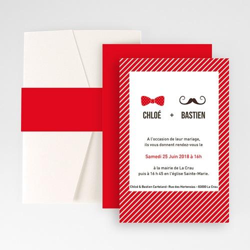 Faire Part Mariage Pochette rectangulaire - Monsieur et Madame 48753
