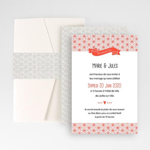 Faire Part Mariage Pochette rectangulaire - Origami 48802