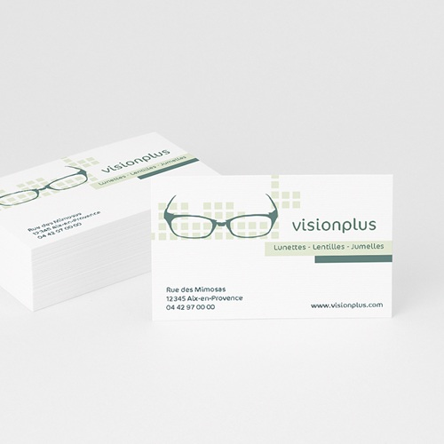 Carte de Visite - Optique-vert 4895