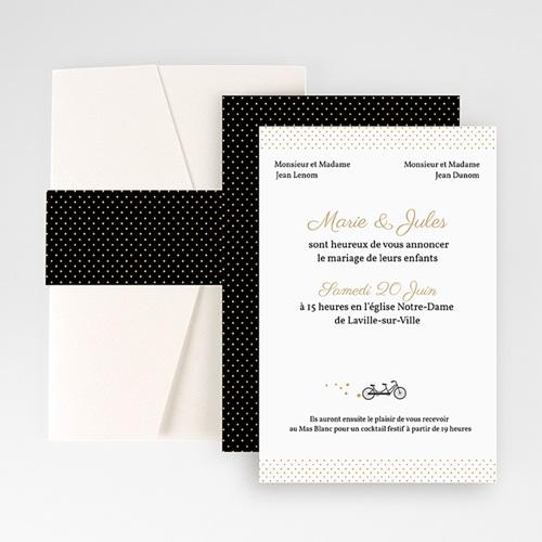 Faire Part Mariage Pochette rectangulaire - Tandem 48964