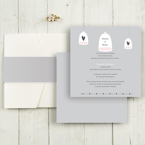 Faire-Part Mariage Pochette carré - Amour illuminé 48976