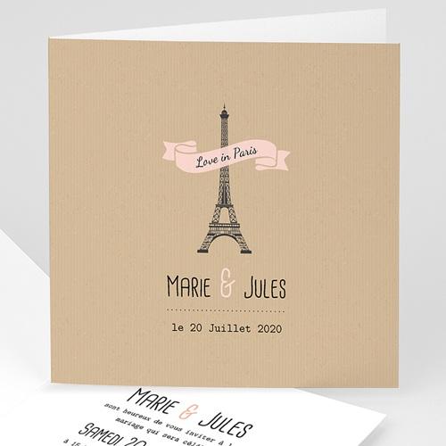 Faire-Part Mariage Personnalisés - Paris 49124