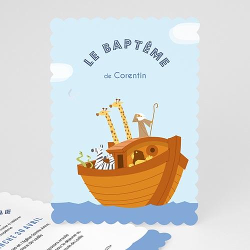 Faire-part Baptême Garçon - Noé 49170